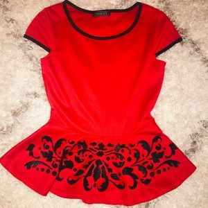 Tops - Gorgeous Mandee Red Peplum Top